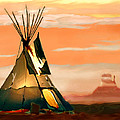 Tipi Or Tepee Monument Valley by Bob and Nadine Johnston