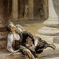 Tired Minstrels by Augustus Edwin Mulready