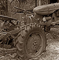 Tired Tractor...... Sepia by Bob Johnson