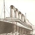Titanic Drawing by Robert Crandall