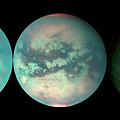 Titan's Changing Features by Nasa/jpl/university Of Arizona/science Photo Library