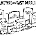 Title: Graveyard Of Past Deadlines.  A Graveyard by Drew Dernavich