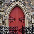 Red Door To Heavens Gates by Stephanie Guinn