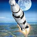 To The Moon Apollo 11 by Stu Shepherd