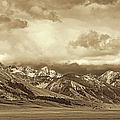 Tobacco Root Mountain Range Montana Sepia by Jennie Marie Schell