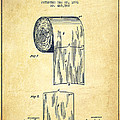 Toilet Paper Roll Patent Drawing From 1891 - Vintage by Aged Pixel