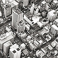 Tokyo City Black And White by For Ninety One Days