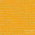 Tokyo In Words Orange by Sabine Jacobs