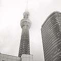 Tokyo Skytree In Clouds by For Ninety One Days
