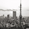 Tokyo Tower And The Zozo-ji Temple by For Ninety One Days