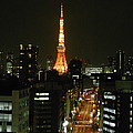 Tokyo Tower At Night by Guy Whiteley