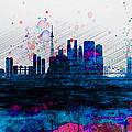 Tokyo Watercolor Skyline 2 by Naxart Studio