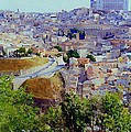 Toledo Spain In Blue by Mindy Newman