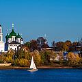 Tolga Monastery At River Volga by Jenny Rainbow