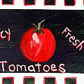 Tomatoes Market Sign by Maura Satchell