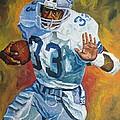 Tony Dorsett - Dallas Cowboys  by Mike Rabe