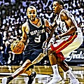Tony Parker Painting by Florian Rodarte