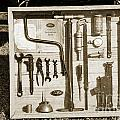 Tool Kit For 1929 Ford Classic Antique Automobile Car In Sepia   by M K Miller