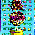 Topiary Of Dried Roses by Candace Lovely