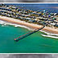 Topsail Island Aerial Panels II by Betsy Knapp