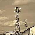 Tornado Siren In A Ghost Town by Ed Sweeney