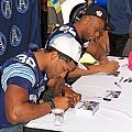 Toronto Argonauts Players Signing Autographs by Valentino Visentini