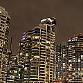 Toronto Condos On A Cold Winter Night by Nina Silver