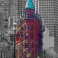 Toronto Flat Iron Building Version 2 by Nina Silver