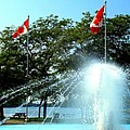 Toronto Island Fountain by Ian  MacDonald