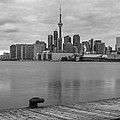 Toronto Skyline In Black And White by John McGraw