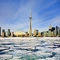 Toronto Skyline In Winter by Peter Mintz