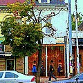 Toronto Stroll Past Fashion Stores Downtown Early Autumn Urban City Scenes Canadian Art C Spandau by Carole Spandau