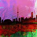 Toronto Watercolor Skyline by Naxart Studio