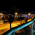 Torquay Royal Terrace Gardens Steps At Night by Terri Waters