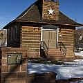 Torrey Log School And Church Utah by Jason O Watson
