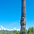 Totem Pole In Gitwangak-bc by Ruth Hager