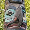 Totem Pole In Seattle  by Bryan Mullennix