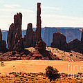 Totem Pole Rock Formation by Kim Lessel