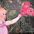 Touched By The Roses Painting by Kimberlee Baxter