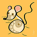 Thoughts And Colors Series Mouse by Veronica Minozzi