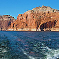 Tour Boat Wake In Lake Powell In Glen Canyon National Recreation Area-utah  by Ruth Hager