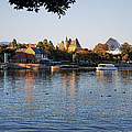 Touring On The World Showcase Lagoon Walt Disney World by Thomas Woolworth