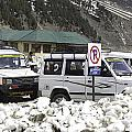 Tourist Vehicles Parked At The No Parking Sign In Sonmarg by Ashish Agarwal