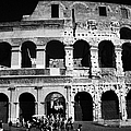 Tourists Exit The Rear Entrance To The Colosseum Rome Lazio Italy by Joe Fox