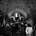 tourists inside the Gedenkhalle memorial hall of Kaiser Wilhelm Gednachtniskirche by Joe Fox