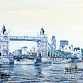 Tower Bridge And The City Of London by Mackenzie Moulton