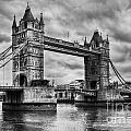 Tower Bridge In London Uk Black And White by Michal Bednarek
