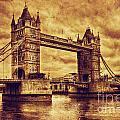 Tower Bridge In London Uk Vintage Style by Michal Bednarek