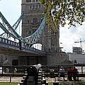 Tower Bridge In The City Of London by Julia Gavin