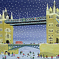 Tower Bridge Skating on Thin Ice by Judy Joel